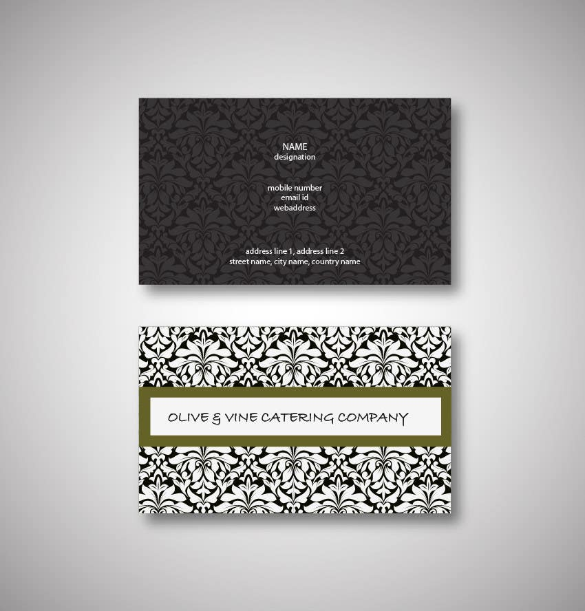 Contest Entry #2 for Business Card Design for Catering Company