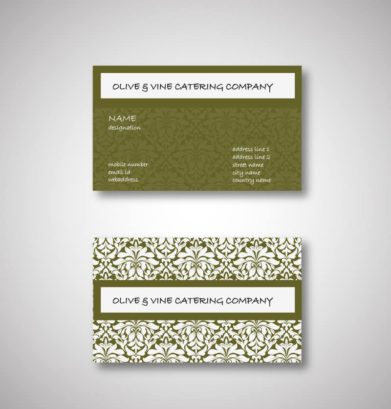 Contest Entry #3 for Business Card Design for Catering Company