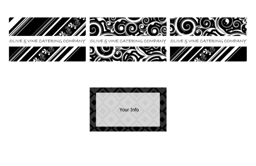 Print Contest Entry #19 for Business Card Design for Catering Company