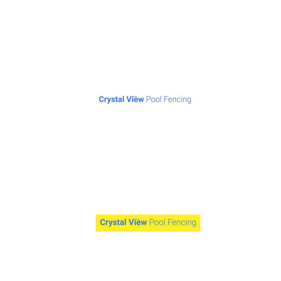 Contest Entry #                                        118                                      for                                         New Business Logo - Crystal View Pool Fencing