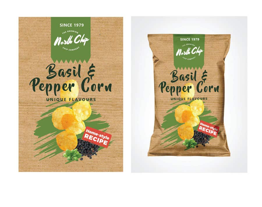 Contest Entry #                                        16                                      for                                         Need a packet of chips designed. Front and back.