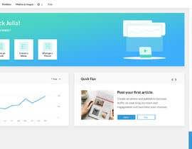 #22 for Design admin dashboard UI/UX Wordpress for wordpress. by kewlneha