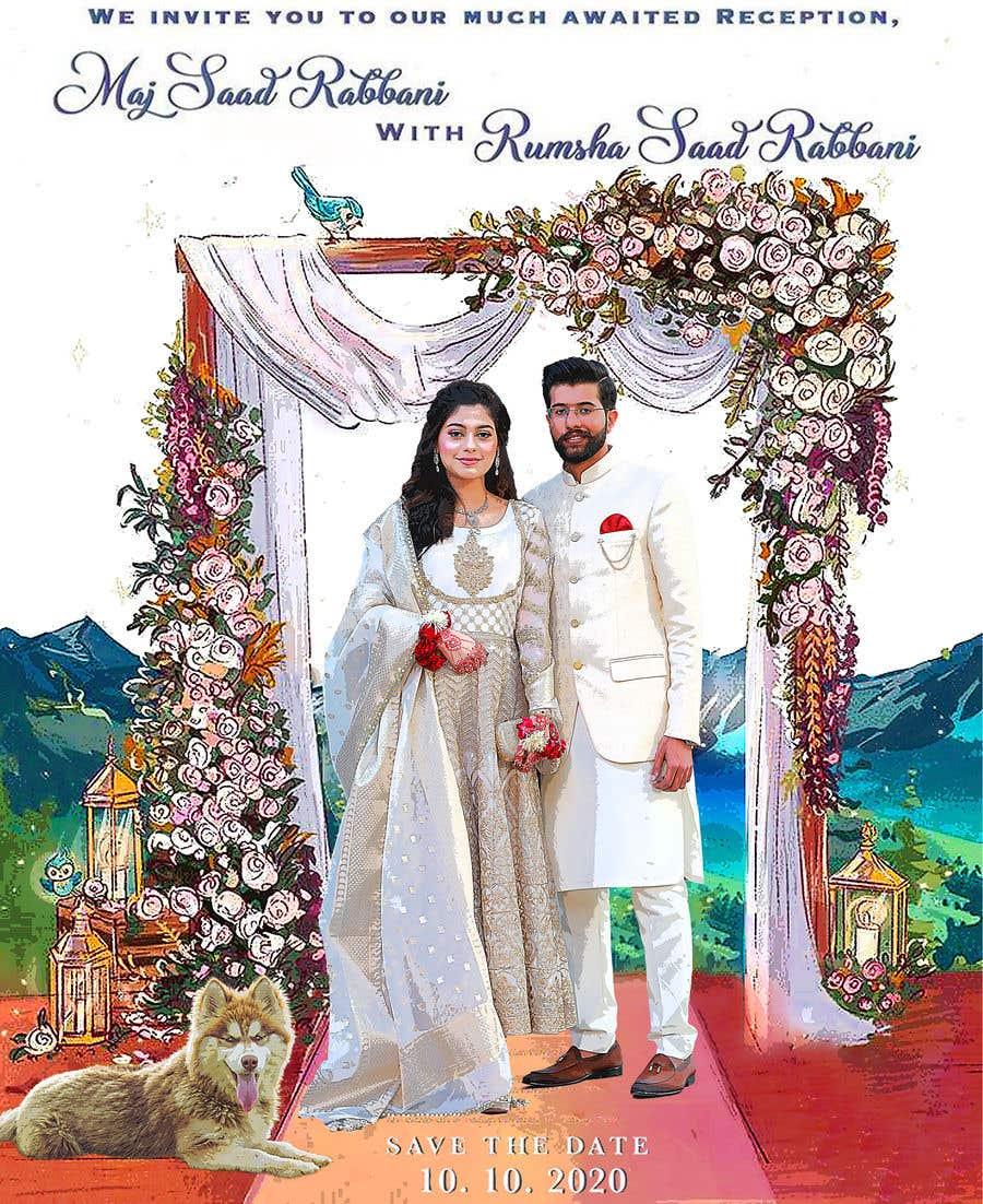 Penyertaan Peraduan #                                        18                                      untuk                                         Wedding Card Illustration