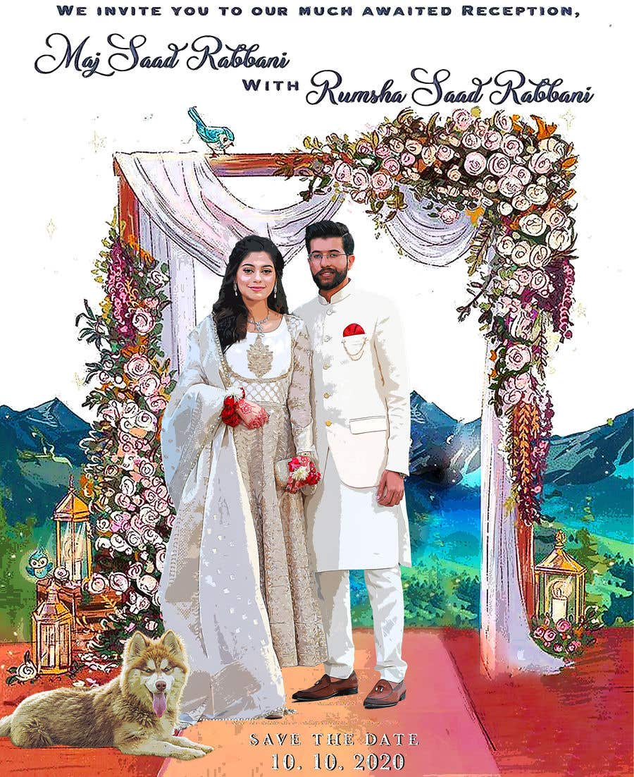 Penyertaan Peraduan #                                        19                                      untuk                                         Wedding Card Illustration