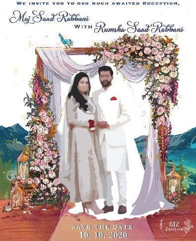 Penyertaan Peraduan #                                        44                                      untuk                                         Wedding Card Illustration