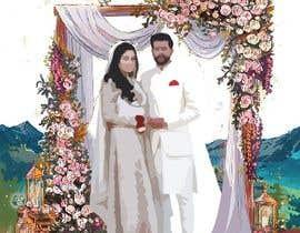 #44 untuk Wedding Card Illustration oleh shakwathossenshi