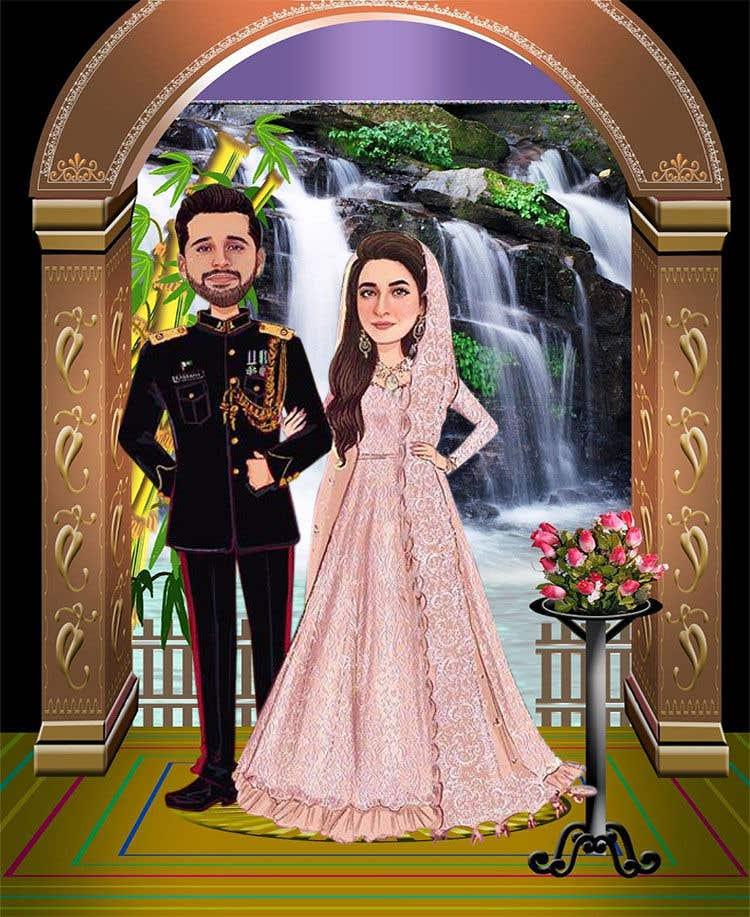 Penyertaan Peraduan #                                        49                                      untuk                                         Wedding Card Illustration