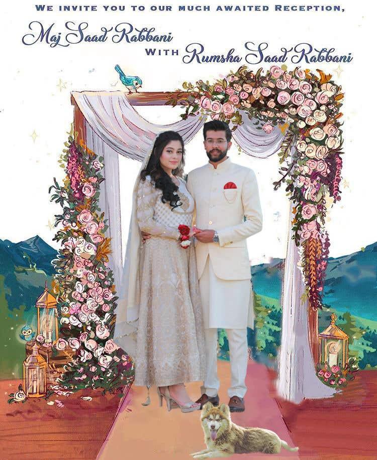 Penyertaan Peraduan #                                        50                                      untuk                                         Wedding Card Illustration