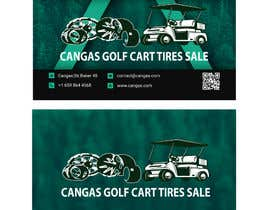 #50 for LOGO/Business card design for Golf Cart Tires sales business. by yosfla2020