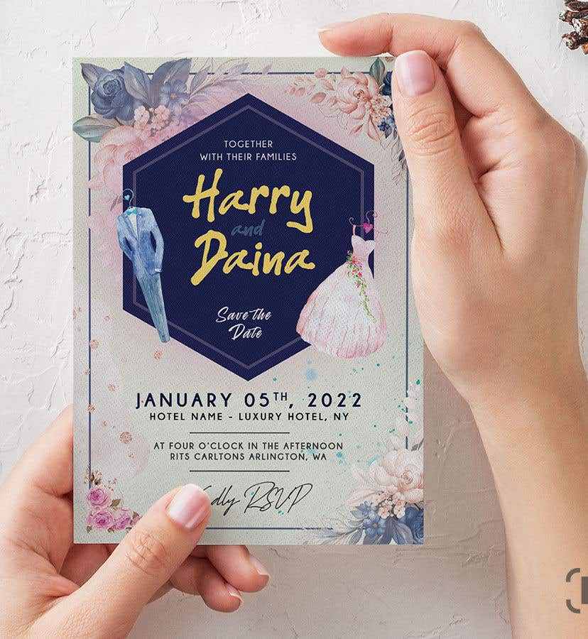 Contest Entry #                                        1                                      for                                         Make a wedding card