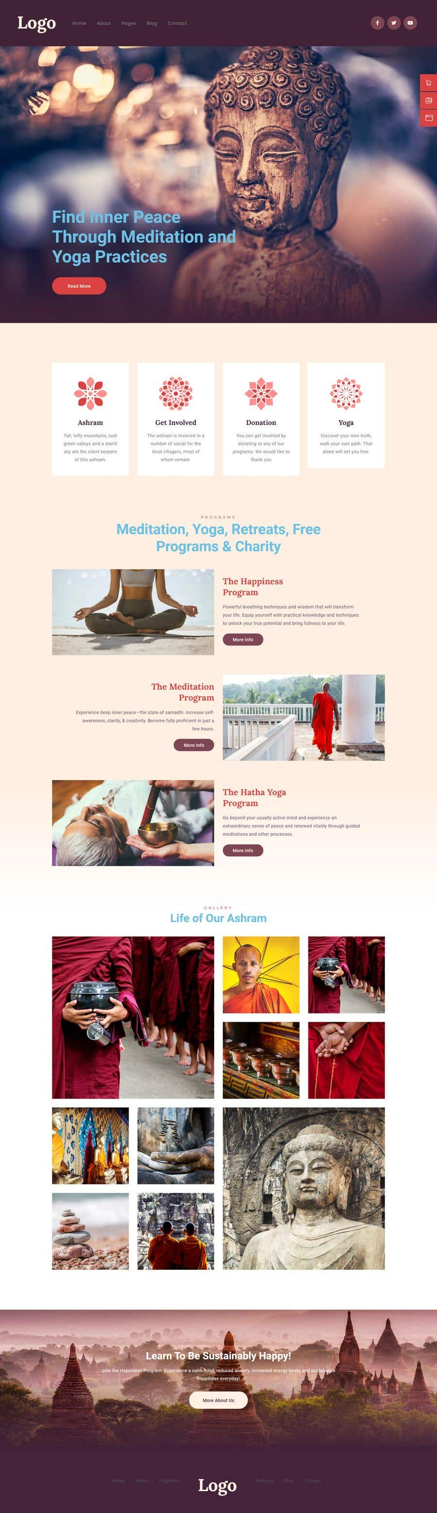 Konkurrenceindlæg #                                        29                                      for                                         A Professional Web Designer is require to design a Buddhist Charity Website