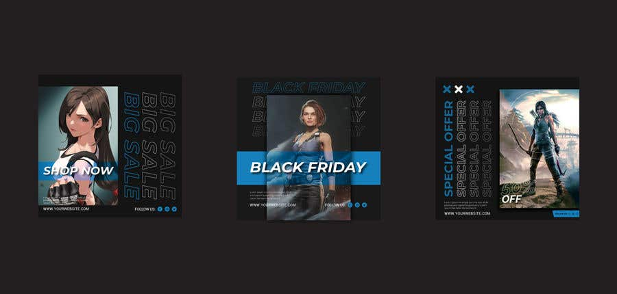 Contest Entry #                                        63                                      for                                         Create 3 banner for: black friday, Stock and offers