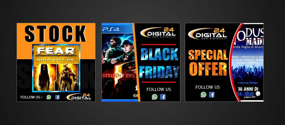 Contest Entry #                                        72                                      for                                         Create 3 banner for: black friday, Stock and offers