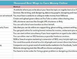 #7 for Put together a list of the 1000 of the best ways to make money online by muradutjaman