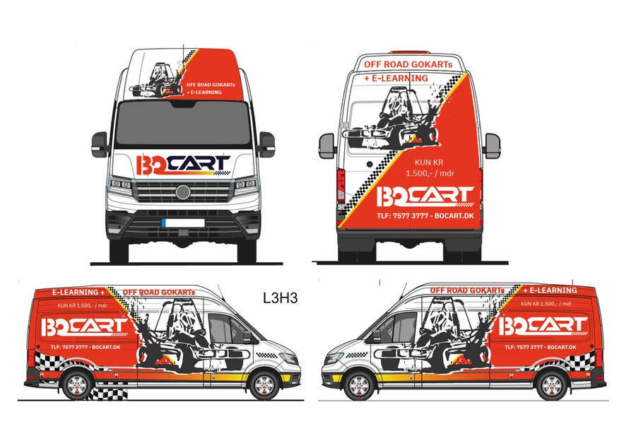 Contest Entry #                                        291                                      for                                         Design a RACING STYLE wrap for our new VW Crafter van