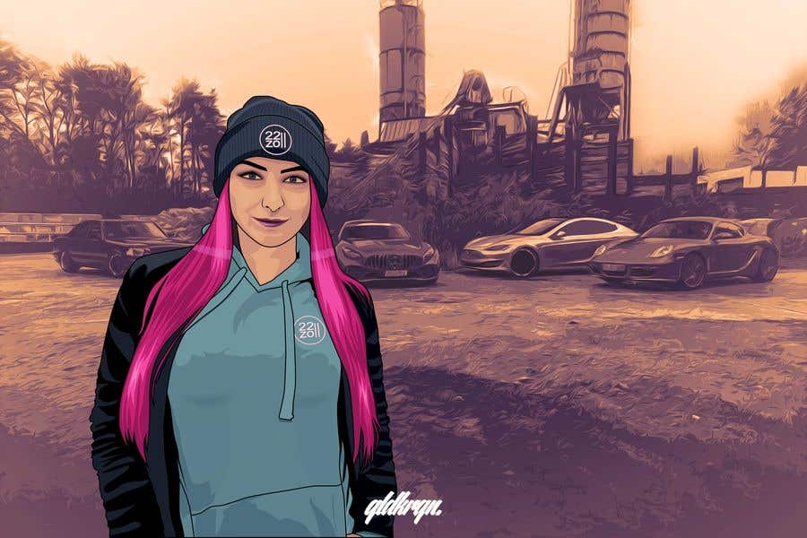 Contest Entry #                                        40                                      for                                         Picture design, Cut out a person of a picture, paste in the other picture and make it look like a cartoon.