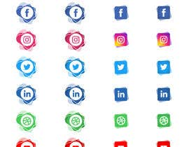 Nro 62 kilpailuun Social Media Icon Set käyttäjältä ps31sabharwal