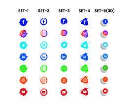 Nro 61 kilpailuun Social Media Icon Set käyttäjältä proshunemon