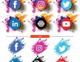 Nro 49 kilpailuun Social Media Icon Set käyttäjältä msisamiul