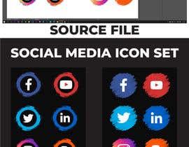 Nro 66 kilpailuun Social Media Icon Set käyttäjältä bayzidsobuj