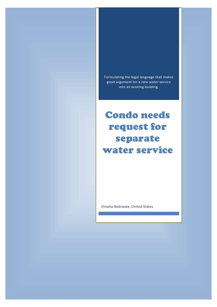 Inscrição nº                                         15                                      do Concurso para                                         Condo needs request for separate water service