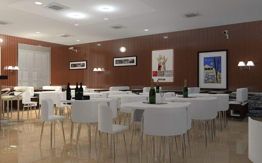 Contest Entry #                                        10                                      for                                         2 renders for the interior of a restaurant