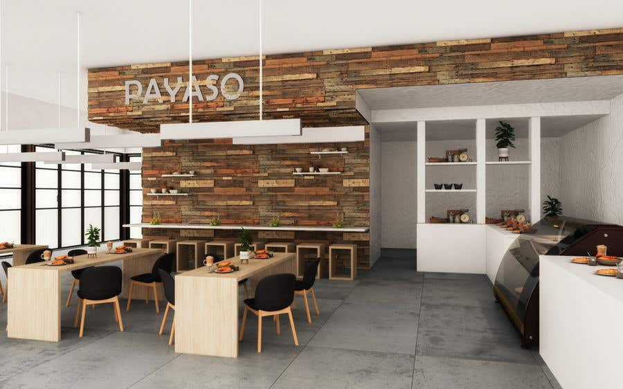 Contest Entry #                                        5                                      for                                         2 renders for the interior of a restaurant