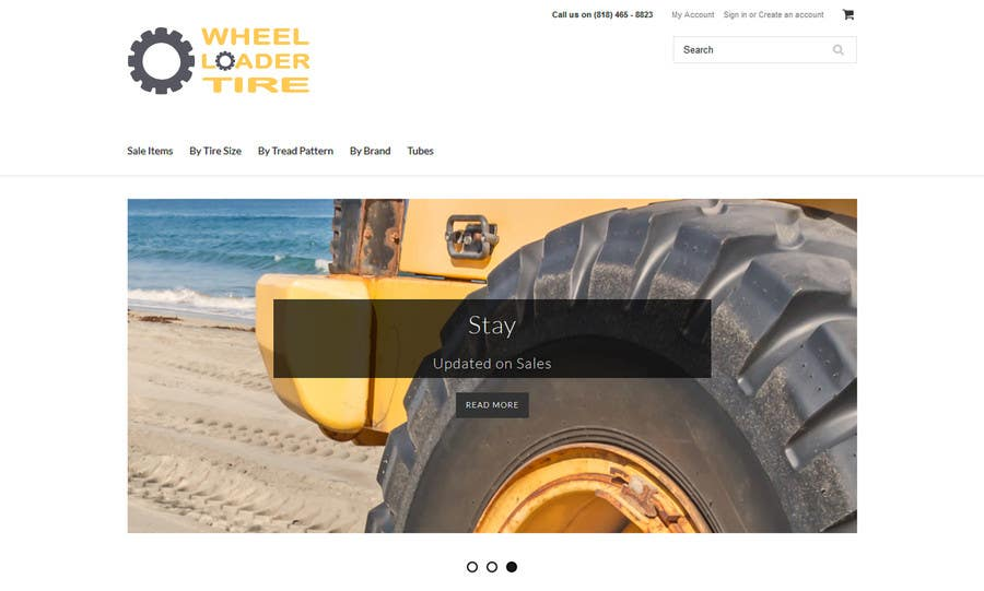 Entri Kontes #                                        38                                      untuk                                        Design a Logo for Wheel Loader Tire Website/Business