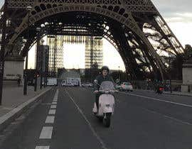#14 for Put me with my vespa in front of the eiffel tower by tamizh1410