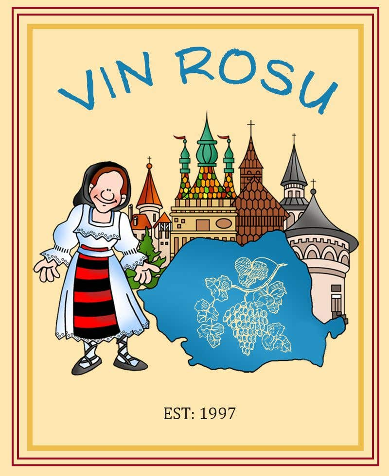 Contest Entry #                                        8                                      for                                         4 wine labels for regional wine in W Romania