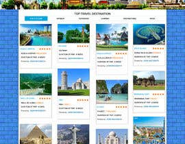 nº 3 pour Design for travel planning site (landing page and initial interaction) par webidea12