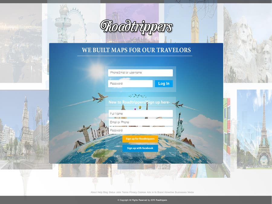 Entri Kontes #15 untukDesign for travel planning site (landing page and initial interaction)
