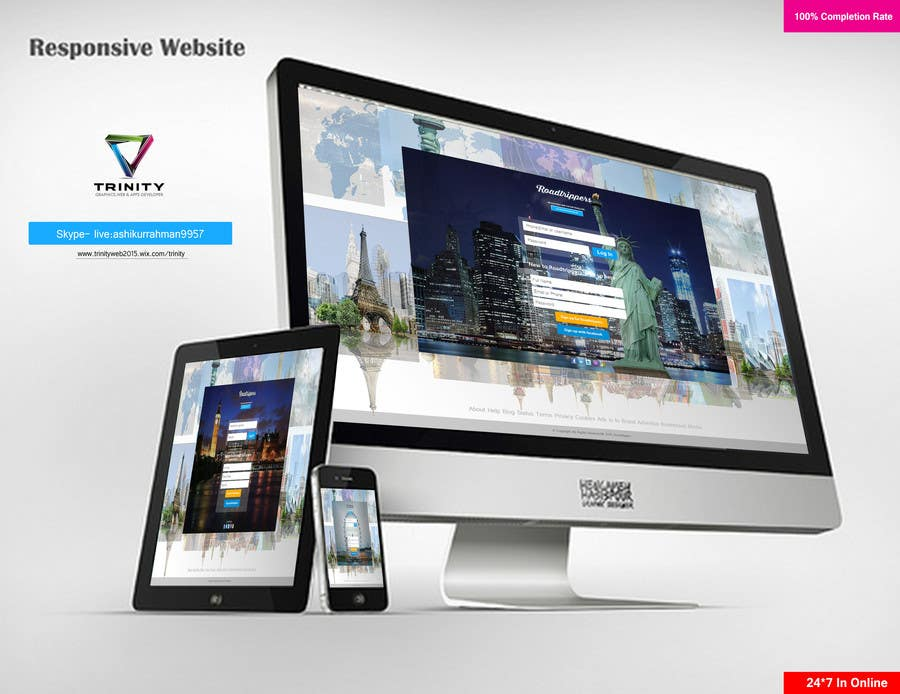 Entri Kontes #16 untukDesign for travel planning site (landing page and initial interaction)