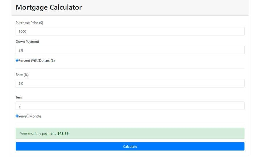 Contest Entry #                                        4                                      for                                         Auto calculator  Widget for Websites