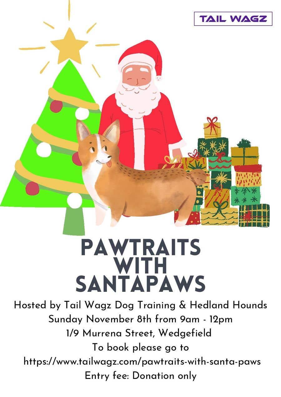Kilpailutyö #                                        4                                      kilpailussa                                         Brochure to advertise dog christmas event