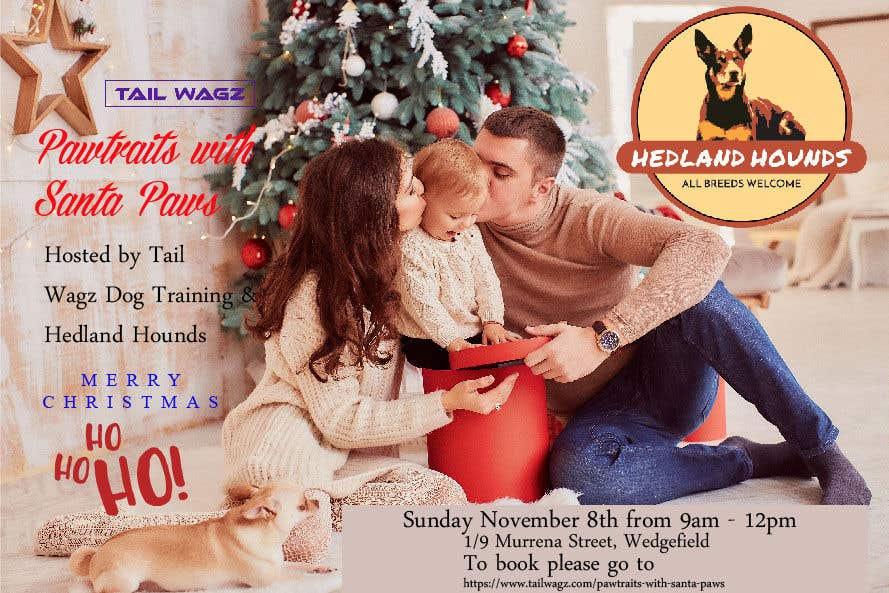 Kilpailutyö #                                        58                                      kilpailussa                                         Brochure to advertise dog christmas event