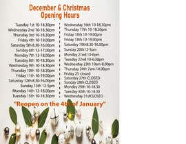 #8 cho Christmas Opening Hours Graphic Barbershop Business bởi Alamin122333