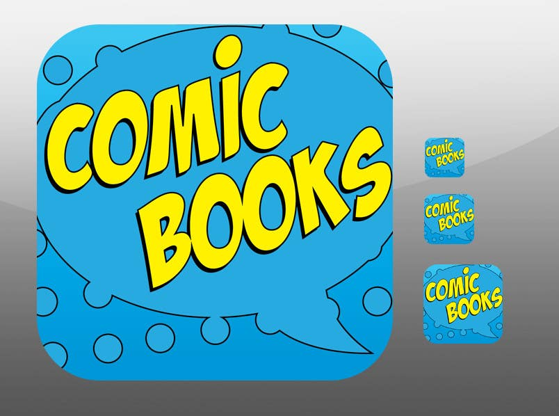 Inscrição nº                                         10                                      do Concurso para                                         Icon or Button Design for iOS comic book icon
