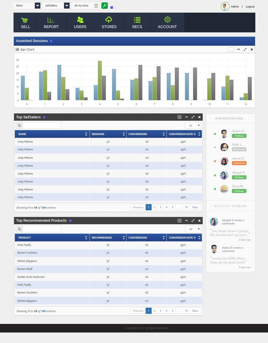 Konkurrenceindlæg #9 for Design a Web Page Mockup for SaaS web application