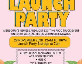 #11 for A6 event invitation for food truck launch party by mabbar789