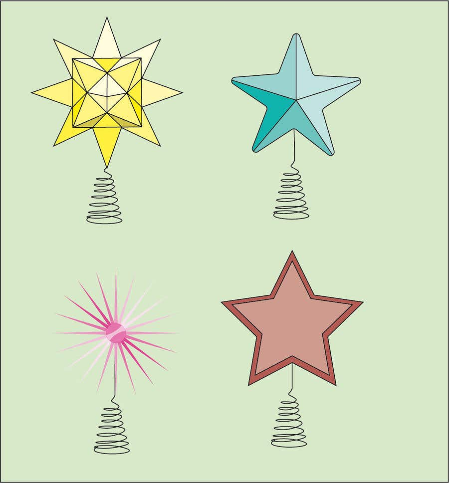 Contest Entry #                                        30                                      for                                         Original Clipart Design, Christmas Star, Angel, Mittens