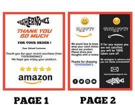 #53 untuk Help design my thank you card for Amazon oleh jhaankitkumar12