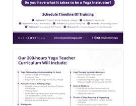 #76 for Design a clean yoga teacher brochure by dnamalraj
