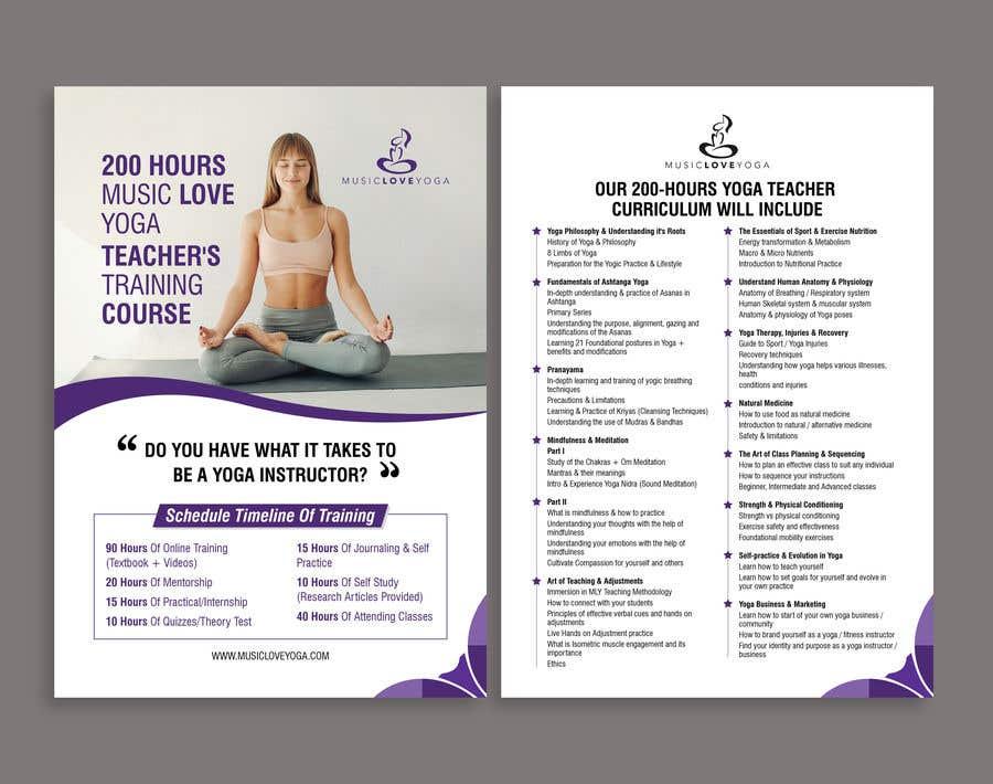 Kilpailutyö #                                        70                                      kilpailussa                                         Design a clean yoga teacher brochure