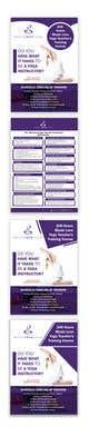 Kilpailutyön #                                                54                                              pienoiskuva kilpailussa                                                 Design a clean yoga teacher brochure