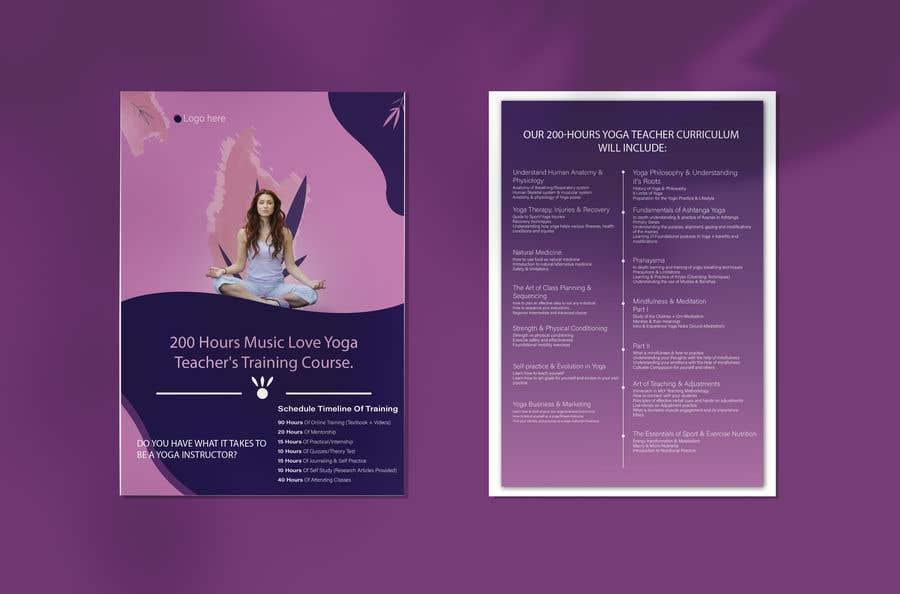 Kilpailutyö #                                        72                                      kilpailussa                                         Design a clean yoga teacher brochure