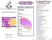 Graphic Design Kilpailutyö #16 kilpailuun Design a clean yoga teacher brochure