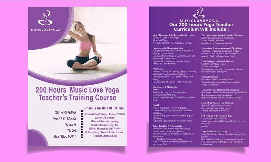 Kilpailutyö #                                        62                                      kilpailussa                                         Design a clean yoga teacher brochure