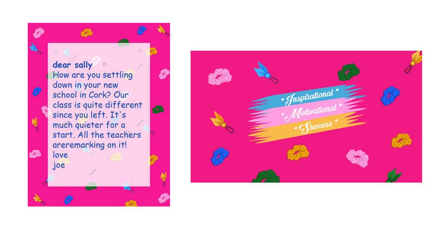 Contest Entry #                                        27                                      for                                         Letter Template & Hair Scrunchie Packaging