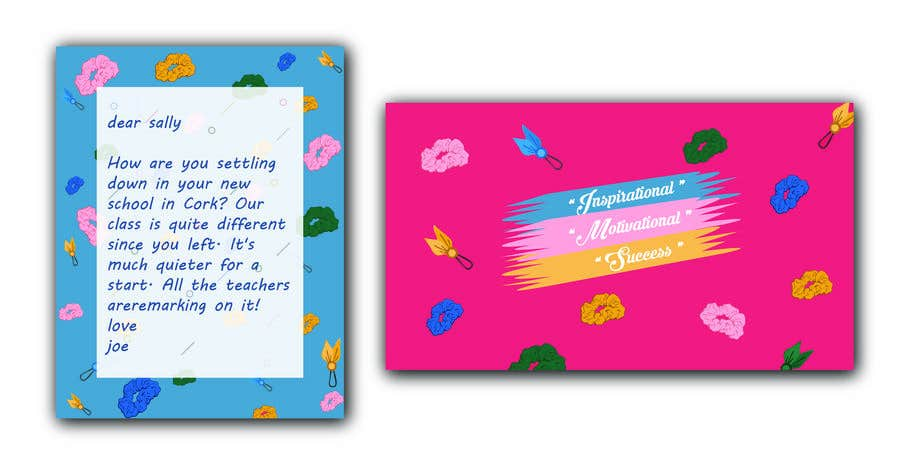 Contest Entry #                                        32                                      for                                         Letter Template & Hair Scrunchie Packaging